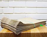 Крафт пакет бумажный 210х400х40 мм, 100 шт (ОПТ), фото 2