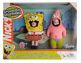 Набор коллекционная кукла Барби Келли и Томми Губка Боб и Патрик Kelly and Tommy Mattel