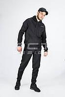 Костюм спортивный Military черный флис, фото 1
