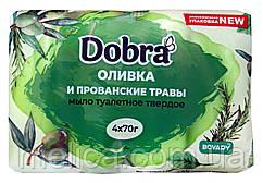 Туалетное мыло Dobra Оливка и прованские травы - 4 х 70 г. - 280 г.