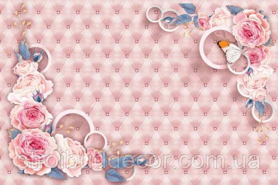 Фотообои 3D стена, цветы разные текстуры , индивидуальный размер