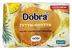 Туалетное мыло Dobra Тутти-Фрутти - 4 х 70 г. - 280 г.