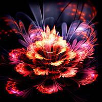 Фотообои 3D абстракционный цветок разные текстуры , индивидуальный размер