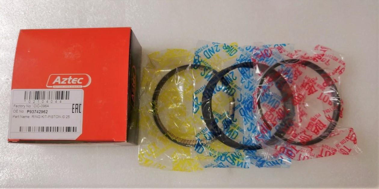 Кольца поршневые Авео 1,5 (0,25) AZTEC Корея