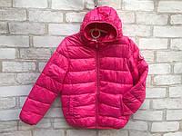 Детская демисезонная курткадля девочки от 3до 7 лет, малинового цвета