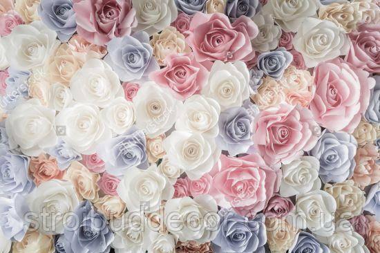 Фотообои 3D розы разные текстуры , индивидуальный размер