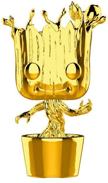Фигурка Funko POP! Bobble: Marvel Studios - Groot Chrome (33514)