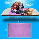 Пляжный коврик подстилка покрывало анти песок 2Life SAND MAT 150х200 см Pink (n-242), фото 2