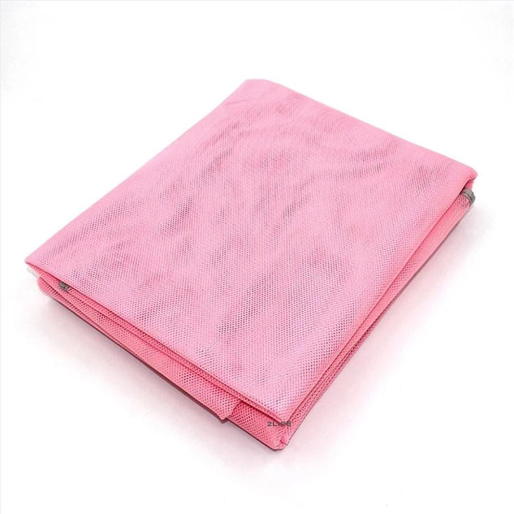 Пляжный коврик подстилка покрывало анти песок 2Life SAND MAT 150х200 см Pink (n-242)