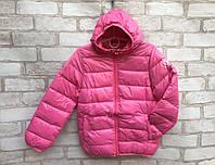 Детская демисезонная курткадля девочки от 3до 7 лет, розового цвета