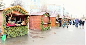 ✅ Компания «Промконтракт» изготовила и поставила в Шепетовку Хмельницкой области торговые киоски для организации Рождественской ярмарки.  4