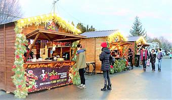 ✅ Компания «Промконтракт» изготовила и поставила в Шепетовку Хмельницкой области торговые киоски для организации Рождественской ярмарки.  6