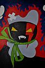 Картина Заинька в бешенстве 60х90 см холст масло галерейная натяжка современная живопись комиксы, фото 2