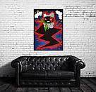 Картина Заинька в бешенстве 60х90 см холст масло галерейная натяжка современная живопись комиксы, фото 6