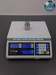 Весы электронные с поверкой 15 кг CAS ER JR CB RS