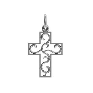 Крест серебряный Ажур 410 290