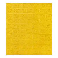 Самоклеющаяся декоративная 3D панель под желтый кирпич 700x770x7мм