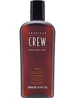3-в-1 American Crew средство по уходу за волосами и телом 3-in-1 Shampoo conditioner and body wash 250мл.