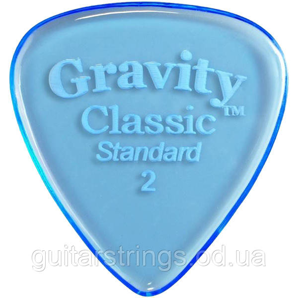 Медиатор Gravity Picks GCLS2P Classic Standard Polished 2.00 mm