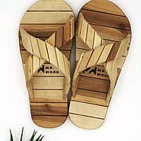 Тапочки для бани деревянные