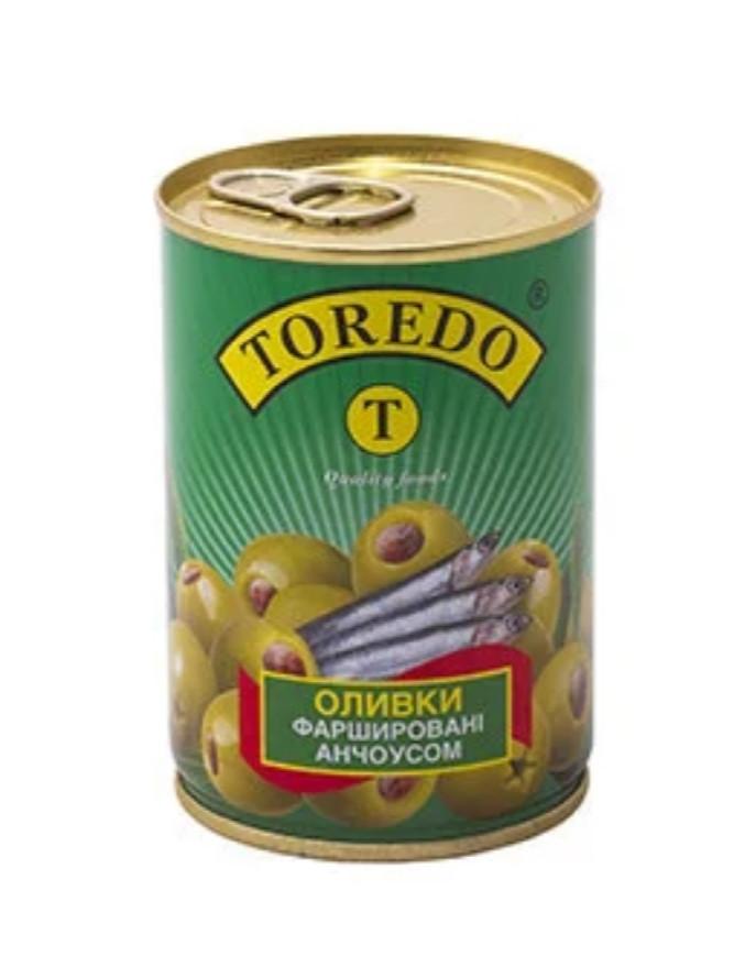 """Оливки зеленые с анчоусом 280г """"Торедо"""""""