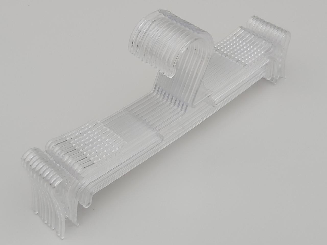 Плечики вешалки пластмассовые для нижнего белья Marc-Th WBO-1PS прозрачные, 25 см, 10 штук в упаковке