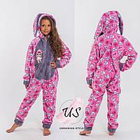 Детская теплая пижама кигуруми для девочки Lol. 3 цвета!