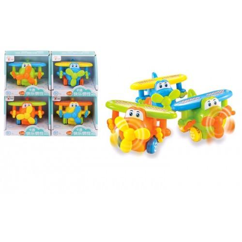 Самолет инерц. 2014-03B+ 4 цвета в коробке 14*11 5*11 5см