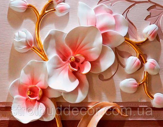 Фотообои 3D цветы орхидеи разные текстуры , индивидуальный размер