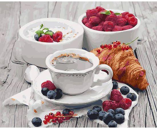 Картина по номерам Ароматний завтрак 5509 40*50