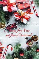 """Бумажный новогодний пакет для подарков """"Большой вертикальный"""""""