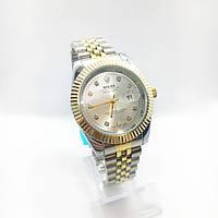 Женские наручные часы Rolex (Ролекс), серебро с золотом ( код: IBW263SYO )