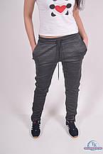 Брюки спортивные женские (55проц. polyester, 45проц. cotton) цв.серый EXUMA 271308 Размер:46,50