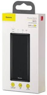 Power Bank Baseus Mini JA Fast Charge 3A 30000mAh Black  33W 6A 4xUSB + Type C QC3.0 PD Дисплей