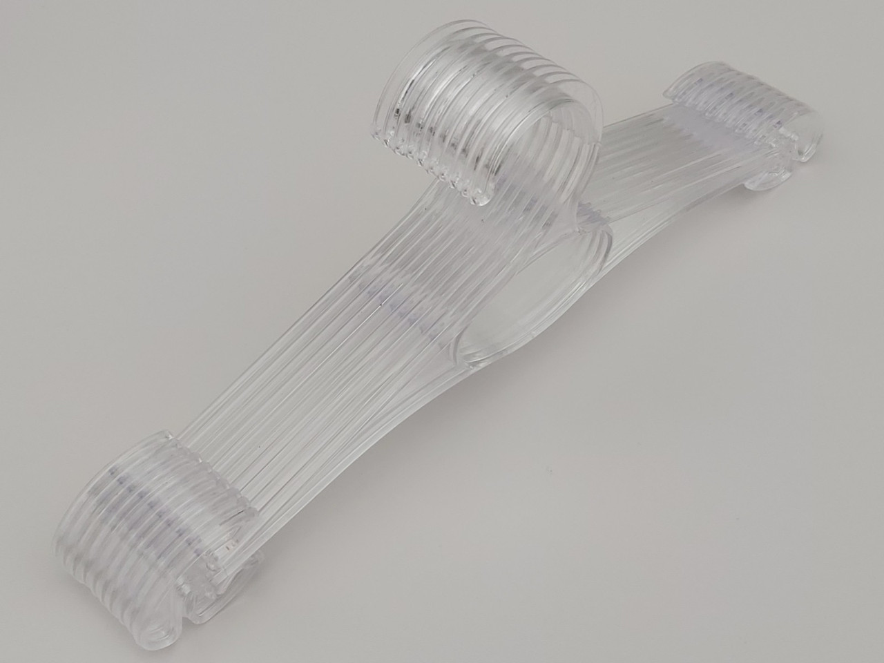Плічка вішалки пластмасові для спідньої білизни V-N30ps прозорі, 30 см, 10 штук в упаковці