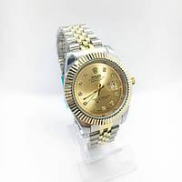 Женские наручные часы Rolex (Ролекс), серебро с золотом ( код: IBW263SY )