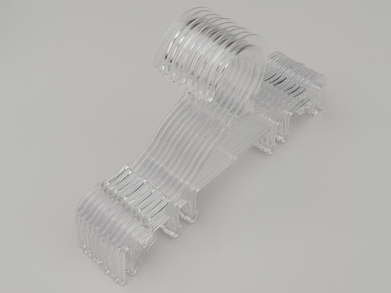 Плечики вешалки пластмассовые для нижнего белья   V-NY18 прозрачного цвета, длина 18,5 см, 10 штук в упаковке