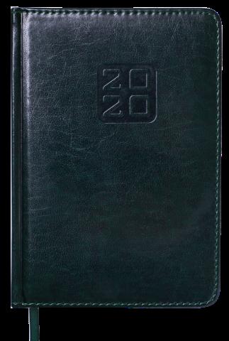 Щоденник датований 2020 Buromax BRAVO A6 (чорний, синій)