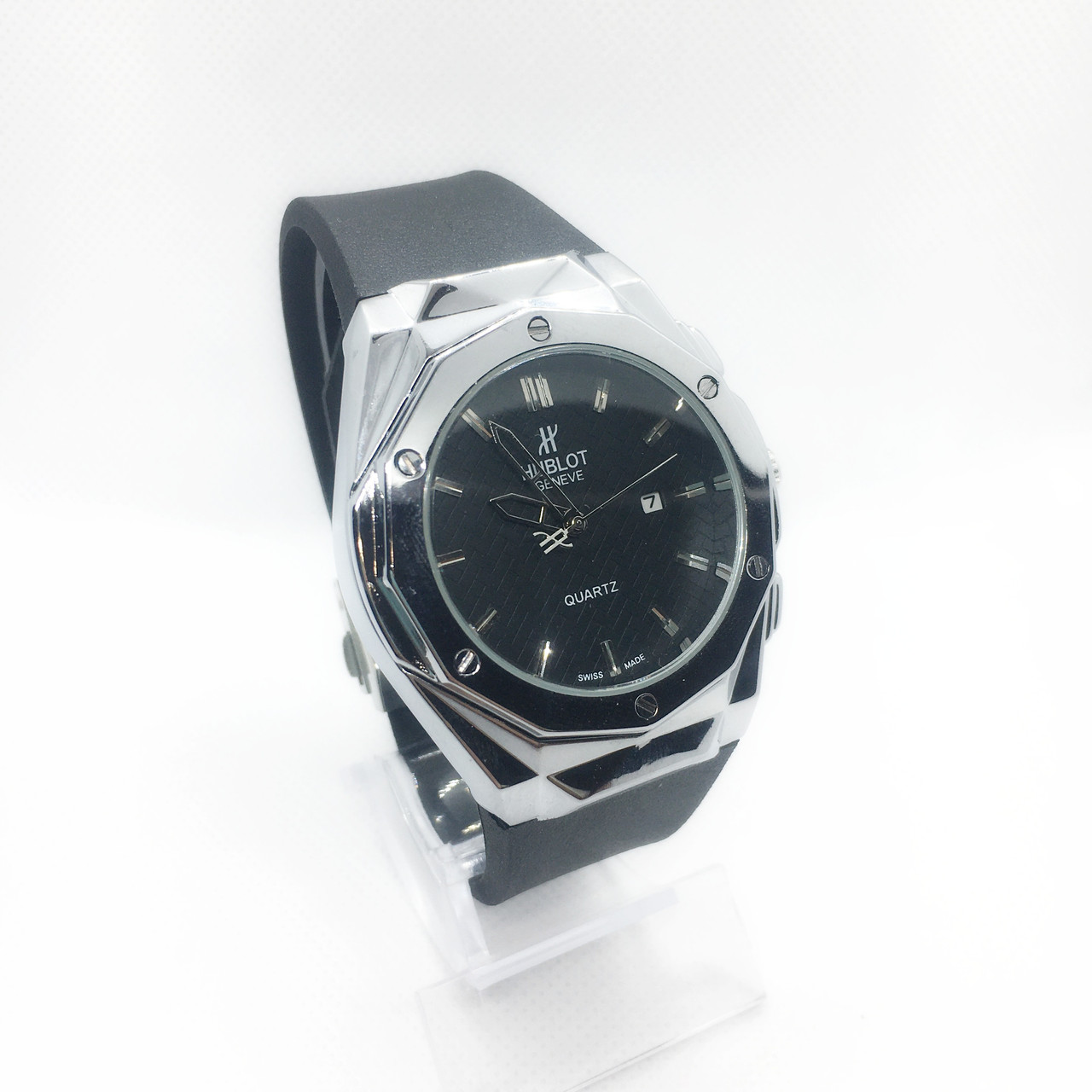 Чоловічі наручні годинники, сріблястий корпус ( код: IBW265S )