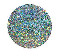 Гліттер сухий великий Срібло голограма
