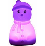 Светильник-ночник детский силиконовый Colorful Silicone Снеговик (526911)