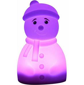 Силіконова світлодіодна лампа Colorful Silicone Сніговик (526911), фото 2