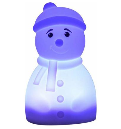 Силіконова світлодіодна лампа Colorful Silicone Сніговик (526911)