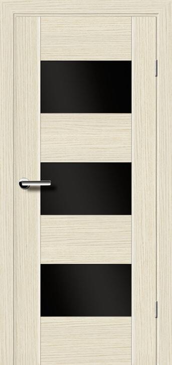 """Межкомнатные двери Брама 38.4 стекло черное серия """"Концепт"""""""