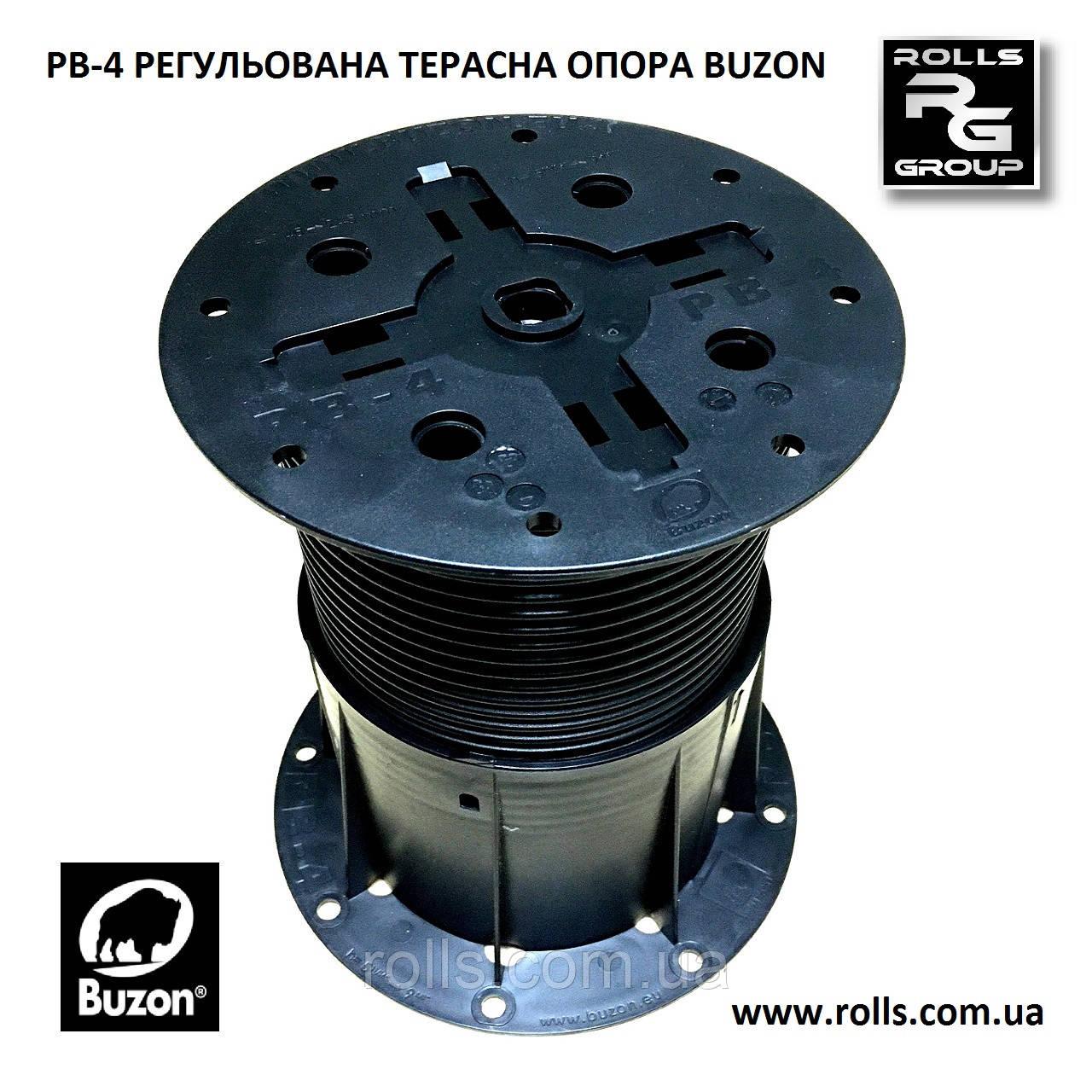 PB-4 Регулируемая опора h145-245мм без корректора уклона Buzon терраса, отмостка бассейна