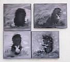МИНИ картина Ежик в тумане 20х20 см холст масло современная интерьерная живопись, фото 2