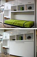 Кровать-шкаф трансформер односпальная Brand Горизонтальная, 80х200