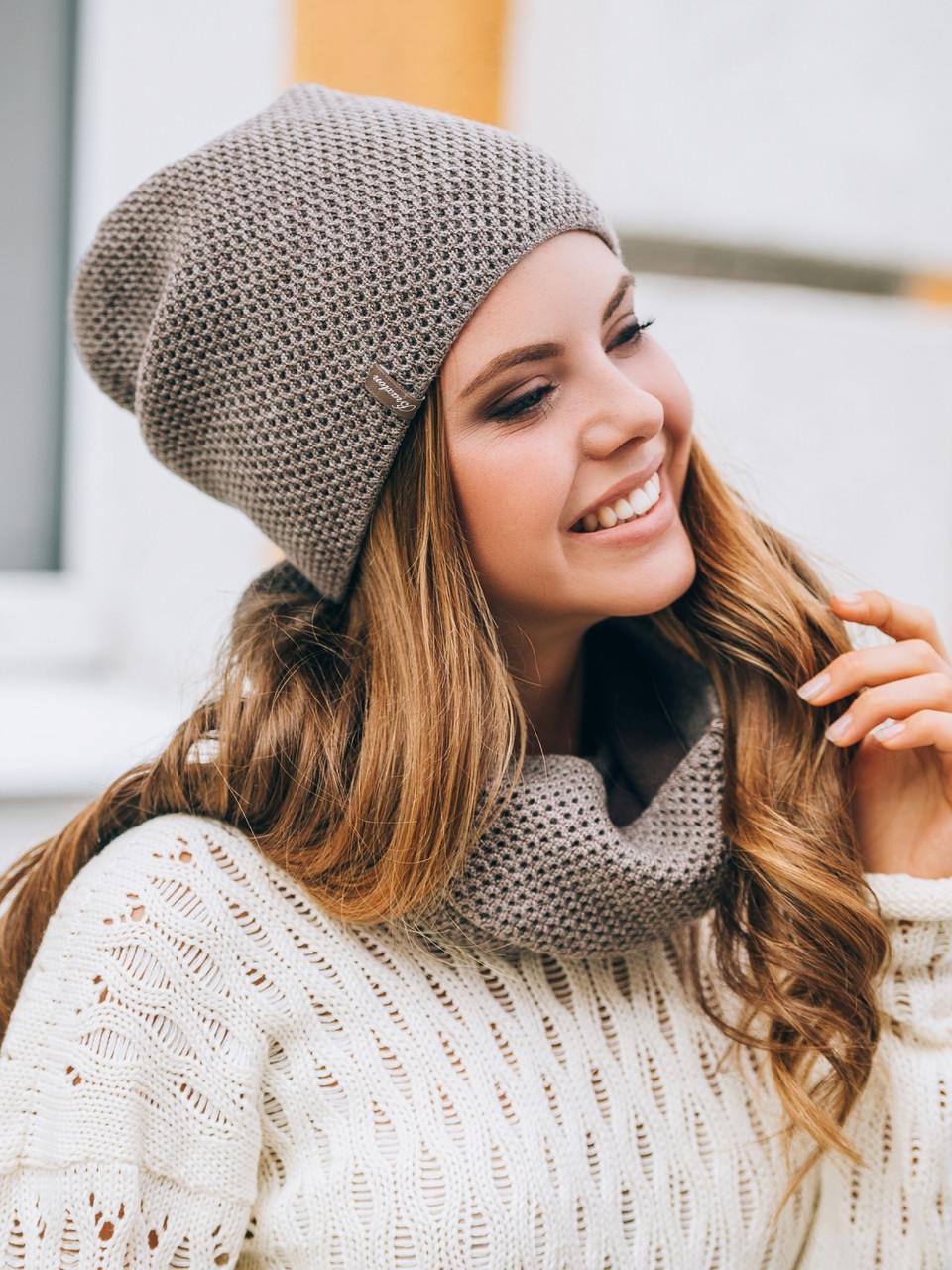 Теплый комплект: шапка и хомут