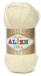 Alize Diva 01 Нитки Для Вязания Оптом