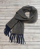 Мужской теплый шарф капучино